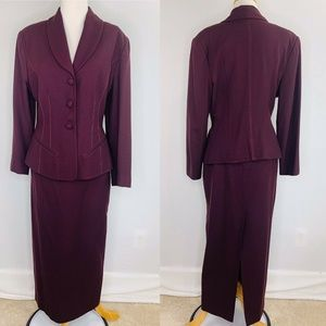 Bebe San Francisco Vntg Wool Blazer & Skirt Suit